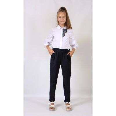 Штани для дівчинки DaNa-kids сині (Арт. 57018c)