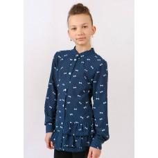 Блуза для дiвчинки DaNa-kids синя (Арт. БЗД-92с)